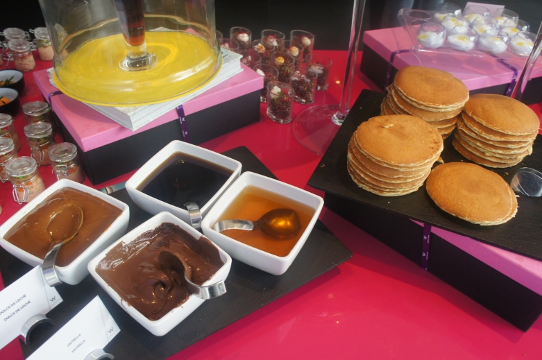 Pancakes and chocolate