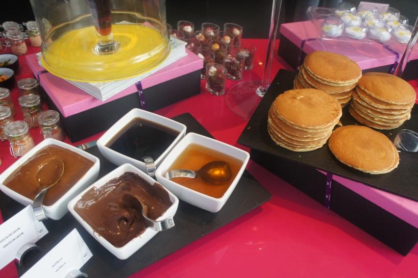 Pancakes and chocolate