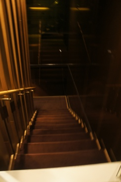 Staircase leading to the Mandarin Oriental Hotel Lounge