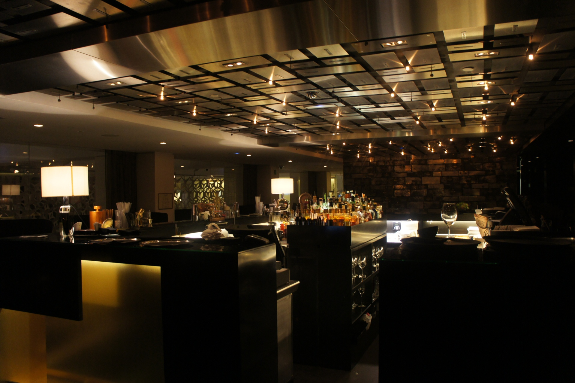 Interiors of the Mandarin Oriental Hotel Bar