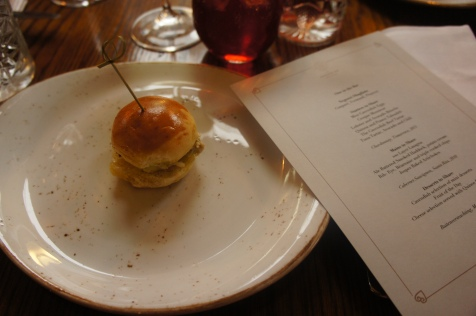 Mini Burgers with our Tasting Menu