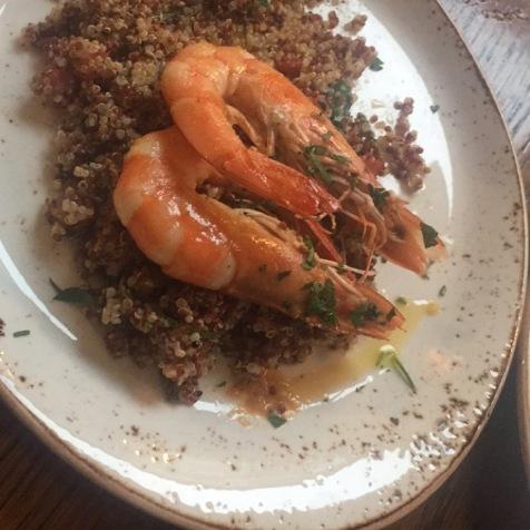 Quinoa and Prawn Tabouleh