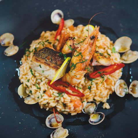 Sea food and rice, Paella