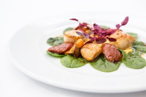 Capesante con Mais e Chorizo seared sea scallops with creamy sweetcorn & chorizo £9.5 (1)