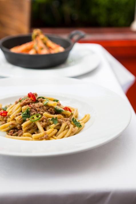 Casarecce Con Ragu Di Salsiccia Piccante twisted pasta with a spicy tuscan sausage ragu £10 (2)