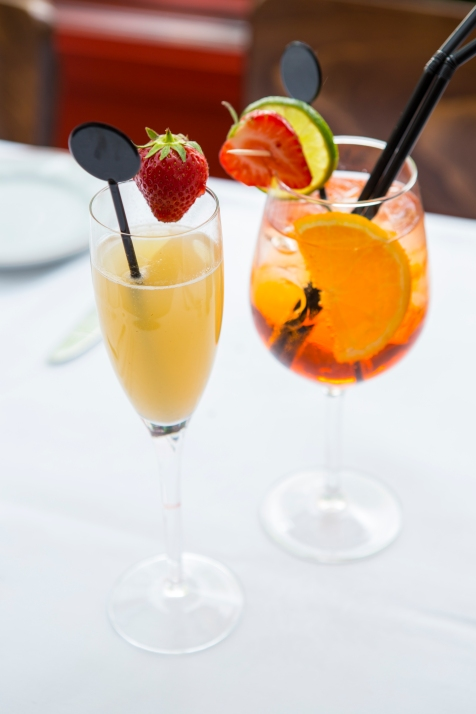 Champagne cocktaila and Aperol Spritzer 1