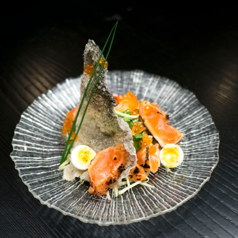Crispy Skin Salmon Salad