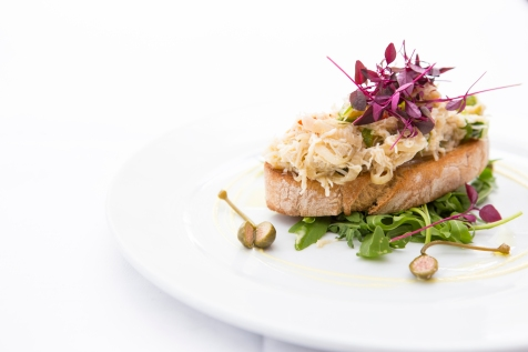 Insalata di Granchio fresh cornish crab with cucumber, chilly,shallots served on toast bread £8 (1)