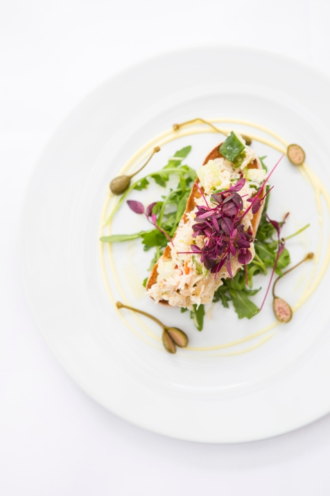 Insalata di Granchio fresh cornish crab with cucumber, chilly,shallots served on toast bread £8 (2)