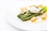 Norfolk Asparagus with Poached Egg, and Black Truffle Shavings £9 (3)