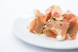 Prosciutto e Fichi parma ham with fresh figs, goat cheese crumbled & aged balsamic gf £8 (1)