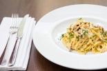 Spaghetti Carbonara egg yolk, pancetta, cream & parmesan cheese sauce £9.5 (1)