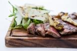 Tagliata di Manzo con Carciofi Marinati beef sirloin with marinated artichokes & parmesan shavings £18 (4)