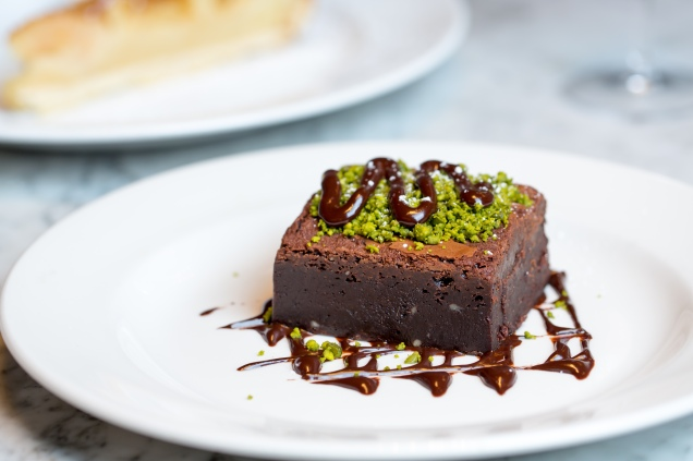 Pistachio brownie