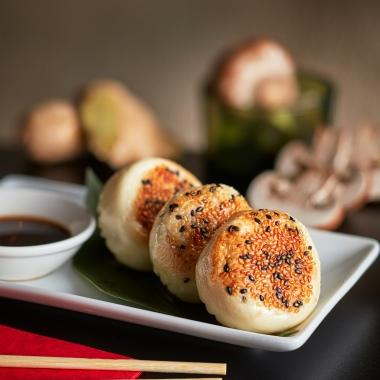 Grilled Chicken Dumplings
