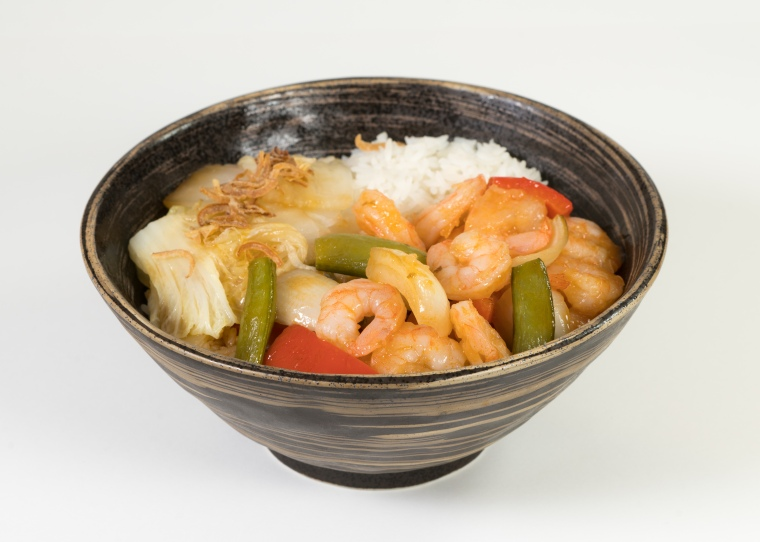 Sweet and Sour Rice Bowl - Prawn
