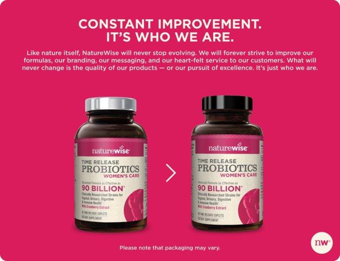 Black Cap Variation NatureWise Womens Probiotic